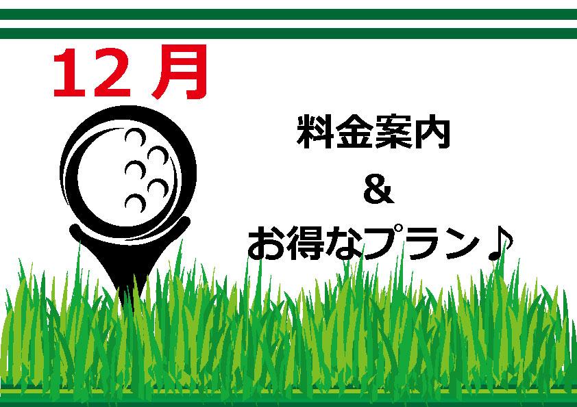 12月料金案内&WEB優待プラン♪